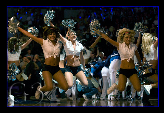 The Dallas Mavs Dancers perform during pre-game introductions