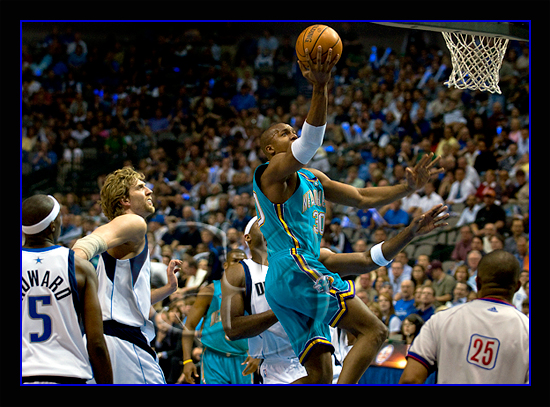 The Mavs took on the New Orleans Hornets and were eliminated in the first round of the playoffs.