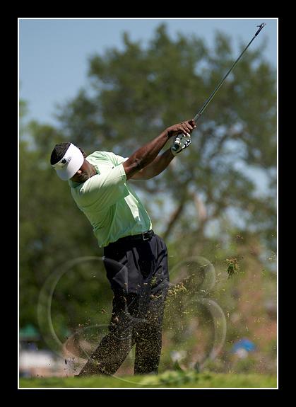 Vijay Singh at the 10th hole