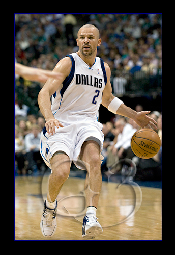 Newly acquired point guard Jason Kidd #2 in action