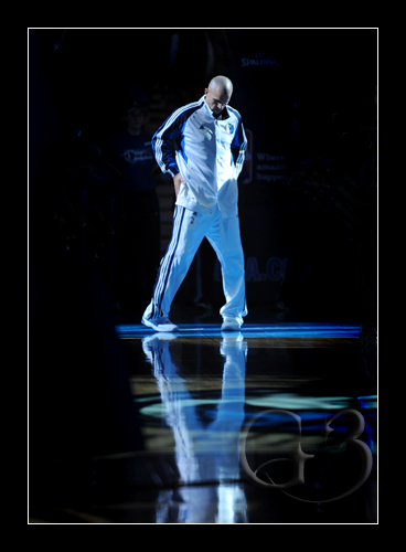 Jason Kidd #2 during the pre-game intro