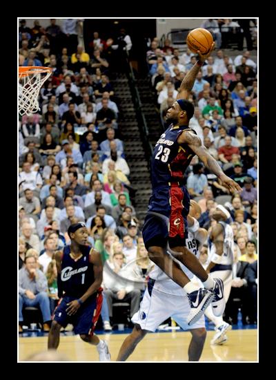 King James flying high