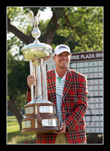 Steve Stricker celebrates his double playoff win
