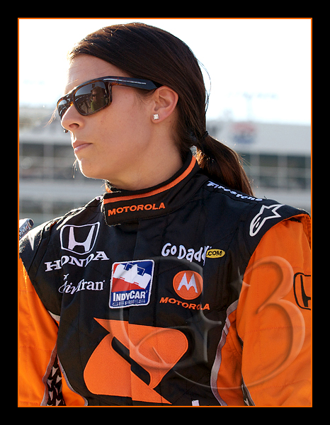 Andretti Green Racing driver Danica Patrick after the qualifying round