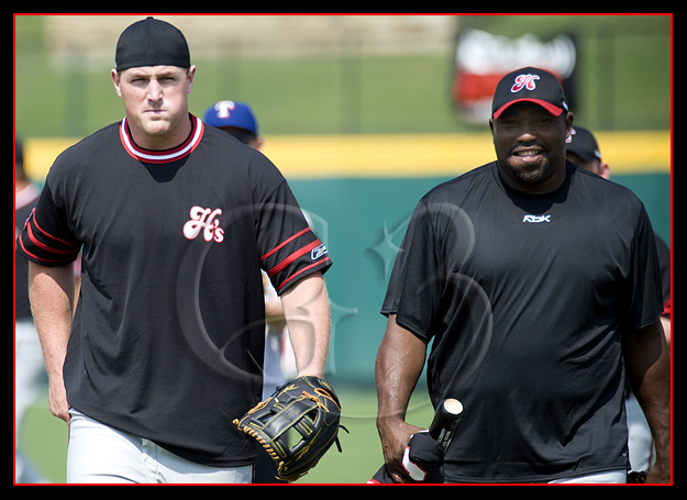 Jason Witten of the Dallas Cowboys and Warren Sapp both participated on the Black Sox team.