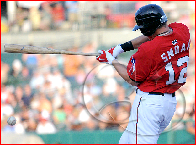 Frisco Roughriders first baseman Justin Smoak #12 at bat