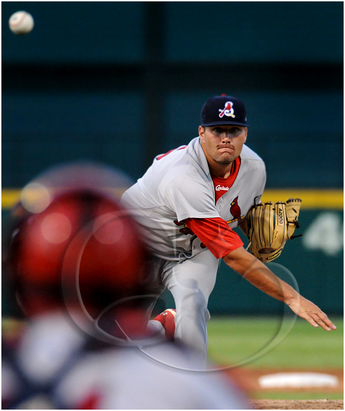 Springfield Cardinals pitcher Lance Lynn #35 pitches during the MiLB Texas League All-Star Game game