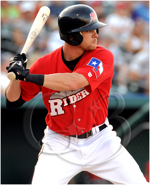 Frisco Roughriders first baseman Craig Gentry #3 at bat during the MiLB Texas League All-Star Game