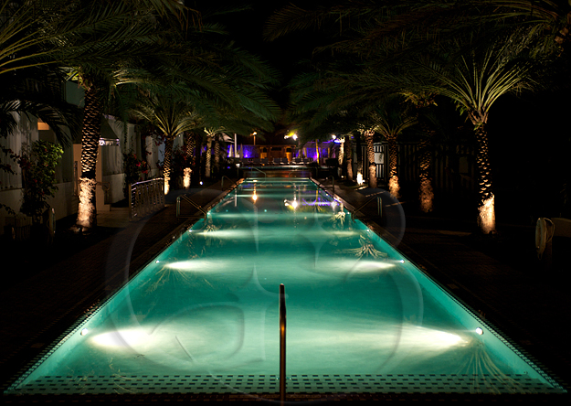 Here is a shot of our hotel swimming pool