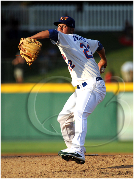 Midland Rockhounds pitcher Jason Fernandez #22 throws on the mound