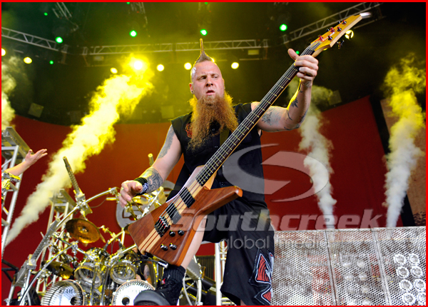 Five Finger Death Punch at the Mayhem Festival in Dallas, TX 2010