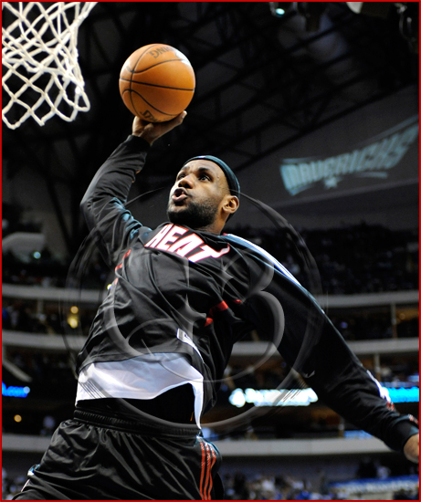 Dallas Mavericks vs Miami Heat - LeBron James #6