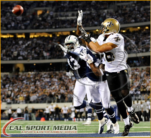 Dallas Cowboys vs New Orleans Saints - New Orleans wide receiver Lance Moore #16 catches the winning touchdown pass with 1:55 left in the fourth quarter