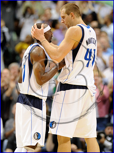 Dallas Mavericks vs Boston Celtics Dirk Nowitzki and Jason Terry