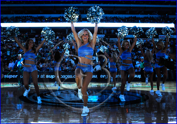 Dallas Mavericks vs Boston Celtics Mavericks Dancers