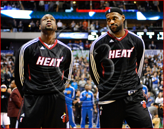 Dallas Mavericks vs Miami Heat - Dwyane Wade & Lebron James