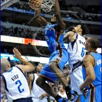 Oklahoma City Thunder vs Dallas Mavericks Serge Ibaka