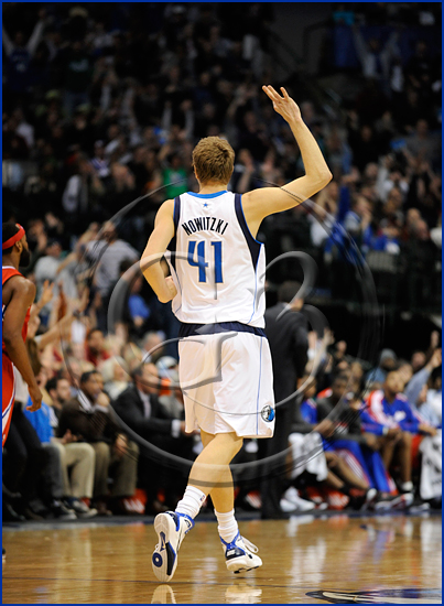 Dallas Mavericks power forward Dirk Nowitzki #41
