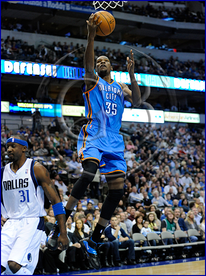 Oklahoma City Thunder vs Dallas Mavericks Kevin Durant