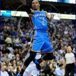 Oklahoma City Thunder vs Dallas Mavericks Russell Westbrook