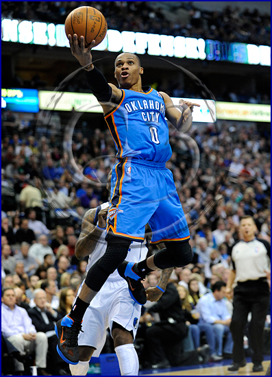 Oklahoma City Thunder vs Dallas Mavericks Russell Westbrook