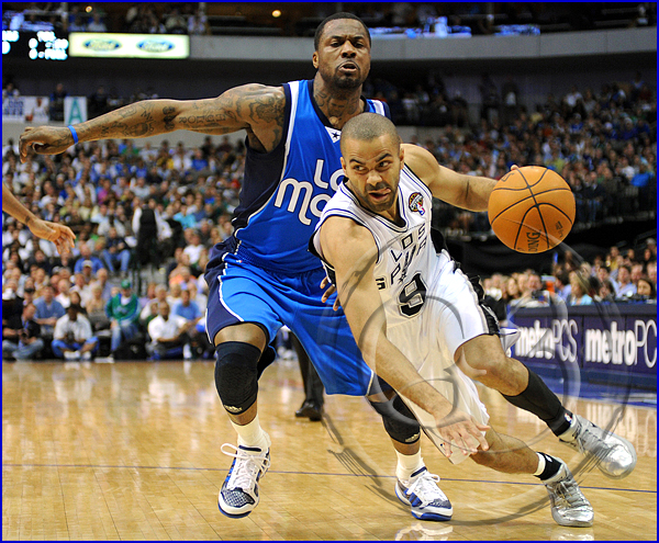 San Antonio Spurs vs Dallas Mavericks Tony Parker