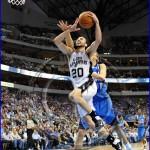 San Antonio Spurs vs Dallas Mavericks Manu Ginobli