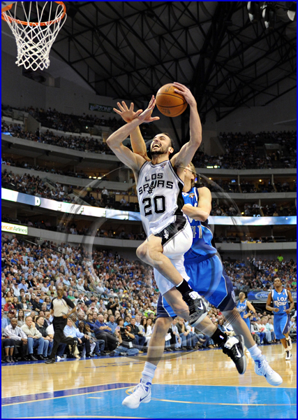 San Antonio Spurs vs Dallas Mavericks Manu Ginobli