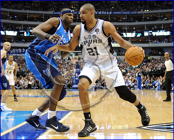 San Antonio Spurs vs Dallas Mavericks Tim Duncan