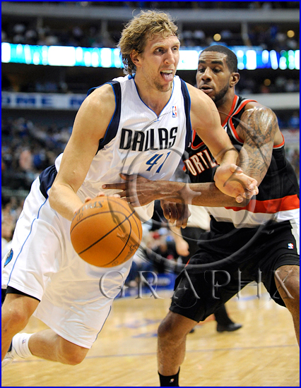 Dallas Mavericks v Portland Trail Blazers Playoffs Game 5 Dirk Nowitzki #41