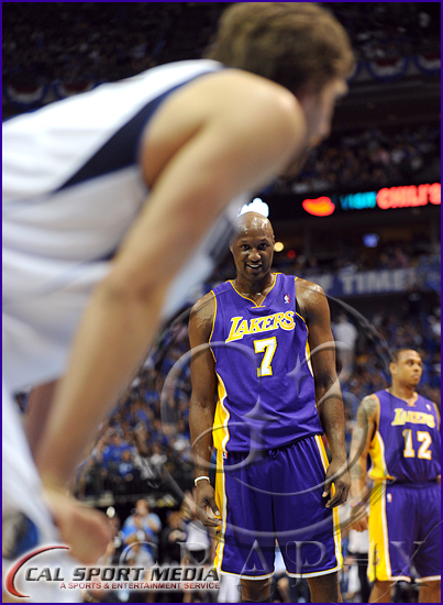 Los Angeles Lakers v Dallas Mavericks Playoffs Lamar Odom, Dirk Nowitzki