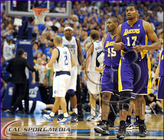 Los Angeles Lakers v Dallas Mavericks Playoffs Andrew Bynum ejected