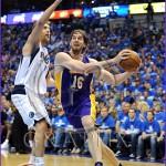 Los Angeles Lakers vs Dallas Mavericks Playoffs Pau Gasol