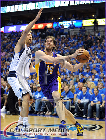 Los Angeles Lakers vs Dallas Mavericks Playoffs Pau Gasol