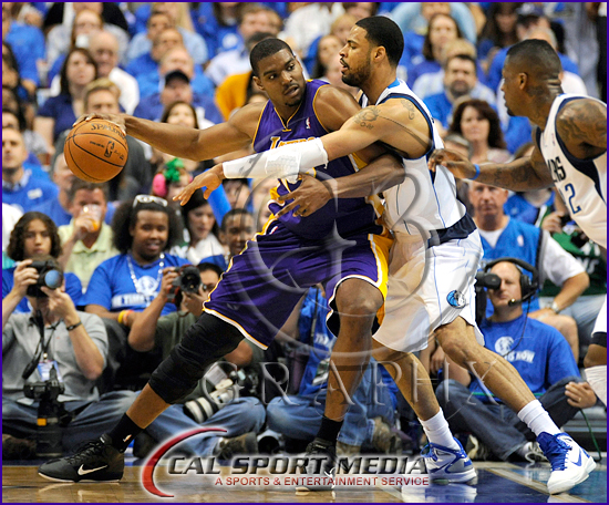 Los Angeles Lakers v Dallas Mavericks Playoffs Andrew Bynum, Tyson Chandler