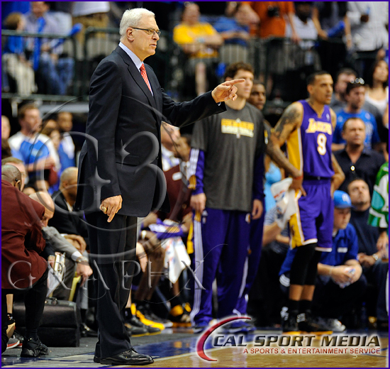 Los Angeles Lakers v Dallas Mavericks Playoffs Coach Phil Jackson last game
