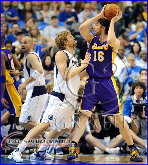 Los Angeles Lakers v Dallas Mavericks Playoffs Dirk Nowitzki, Pau Gasol