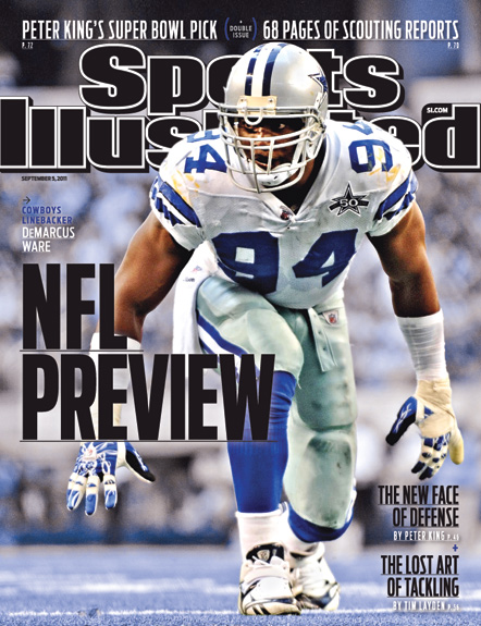 Sports Illustrated Cover NFL Preview DeMarcus Ware Dallas Cowboys 2011