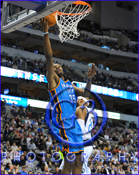 Oklahoma City Thunder vs Dallas Mavericks Kevin Durant #35