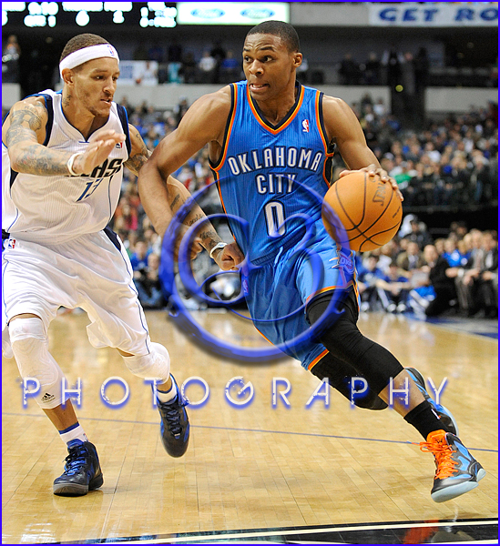 Oklahoma City Thunder vs Dallas Mavericks Russell Westbrook #0