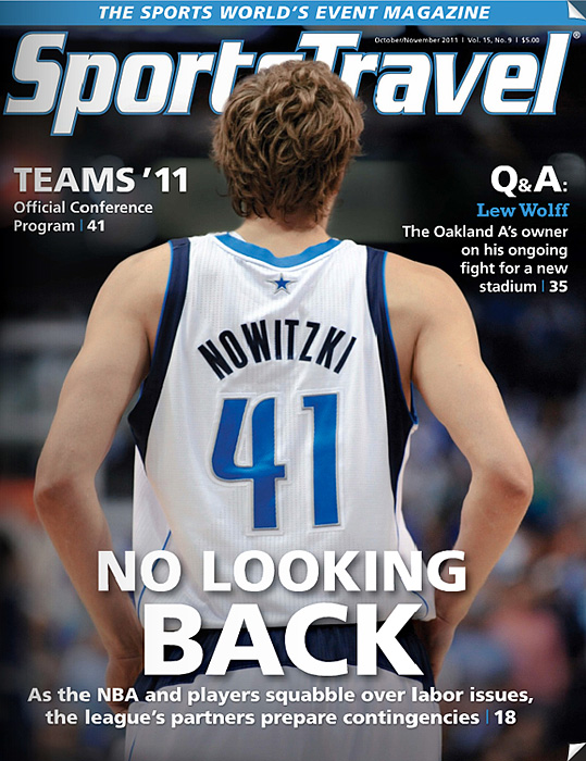 Sports Travel Magazine cover Dirk Nowitzki