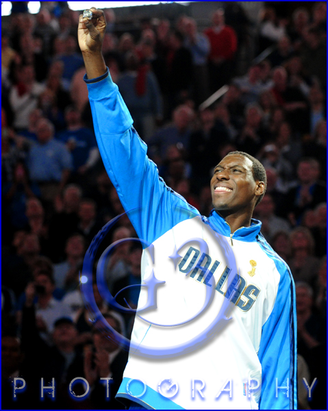 Dallas Mavericks Championship Ring Ceremony Ian Mahinmi