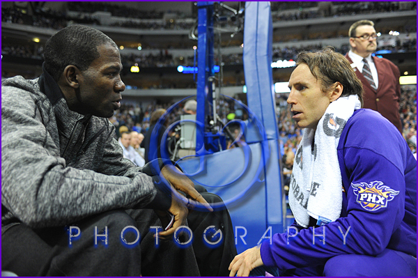NBA 2012: Phoenix Suns vs Dallas Mavericks JAN 04 Steve Nash, Michael Finley