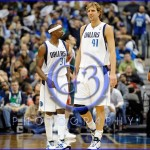 NBA Milwaukee Bucks vs Dallas Mavericks JAN 13 Jason Terry and Dirk Nowitzki