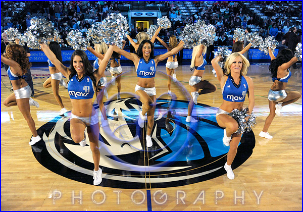 NBA Milwaukee Bucks vs Dallas Mavericks JAN 13 Mavericks Dancers