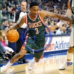 NBA Milwaukee Bucks vs Dallas Mavericks JAN 13 Brandon Jennings