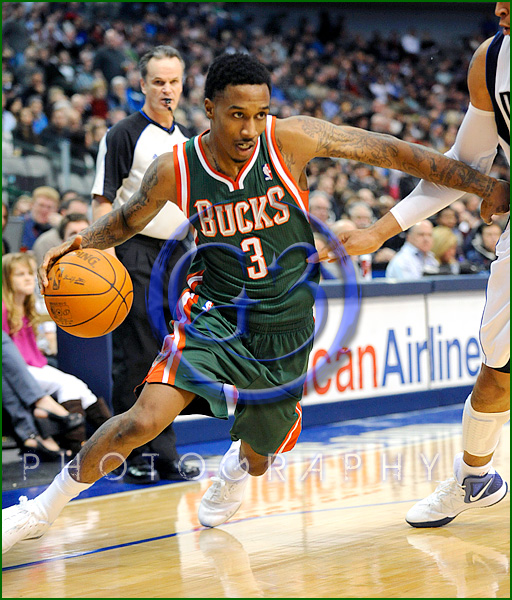 NBA Milwaukee Bucks vs Dallas Mavericks JAN 13 Brandon Jennings