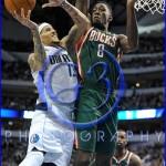 NBA Milwaukee Bucks vs Dallas Mavericks JAN 13 Delonte West