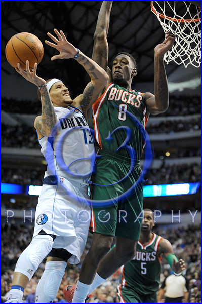 NBA Milwaukee Bucks vs Dallas Mavericks JAN 13 Delonte West
