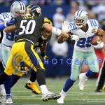 December 16, 2012:  Dallas Cowboys running back DeMarco Murray #29 carries the ball during an NFL football game between the Pittsburgh Steelers and the Dallas Cowboys at Cowboys Stadium in Arlington, TX  Dallas defeated Pittsburgh in OT 27-24
